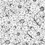 Sömlös blom- modell royaltyfri illustrationer