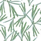 Sömlös blom- modell av gräs på den vita bakgrunden abstrakt textur f?r tyg f?r bakgrundsclosedesign upp reng?ringsduk royaltyfri illustrationer