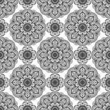Sömlös blom- modell av mandalas Arkivbild