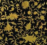 Sömlös blom- modell i renässansstil Arkivfoton