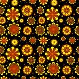 Sömlös blom- modell med geometriska stiliserade blommor. Arkivbilder