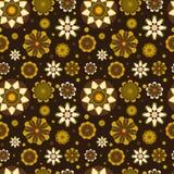 Sömlös blom- modell med geometriska stiliserade blommor. Royaltyfri Bild