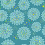 Sömlös blom- modell med geometriska stiliserade blommor. Arkivbild