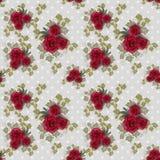 Sömlös blom- modell med rosor Arkivfoton