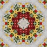 Sömlös blom- modell, olje- målning Royaltyfri Foto