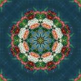 Sömlös blom- modell, olje- målning Arkivbild