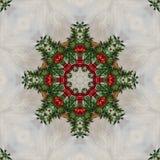 Sömlös blom- modell, olje- målning Royaltyfri Bild