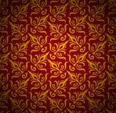 Sömlös blom- modellbakgrund. Damast lyxig kunglig stiltapet Arkivbild