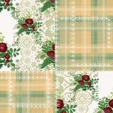 Sömlös blom- modellprydnad för patchwork Royaltyfri Fotografi