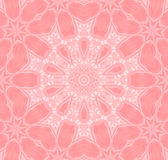 Sömlös blom- modellrosa färgvit Arkivfoton