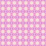 Sömlös blom- modellrosa färgvit Arkivbilder