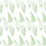 Sömlös blom- säsongsbetonad vektorbakgrund för modell, för gräsplan och för sommar royaltyfri illustrationer