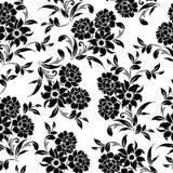 S?ml?s blom- svart vit modell royaltyfri illustrationer