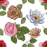 Sömlös blom- tapet Royaltyfria Foton
