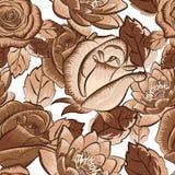 Sömlös blom- tapet Arkivfoton