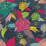 Sömlös blom- textur stock illustrationer