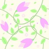 Sömlös blommabakgrund Stock Illustrationer