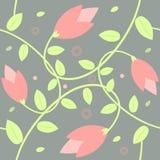 Sömlös blommabakgrund Royaltyfri Illustrationer