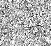 Sömlös blommamodell vektor illustrationer