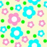 Sömlös blommamodell i pastellfärgade färger Arkivbild