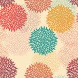 Sömlös blommamodell i retro stil stock illustrationer