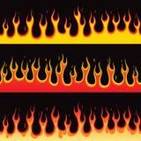 Sömlös brandflamma Fotografering för Bildbyråer