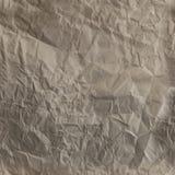 Sömlös brun tidning skrynklig textur Fotografering för Bildbyråer