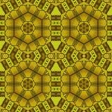 Sömlös brunt för gul ockra för sexhörningsmodell Arkivbild