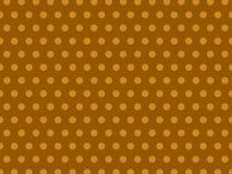 Sömlös bruntgulingpastell Dot Background Pattern stock illustrationer