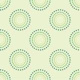 Sömlös cirkel Dots Green Background Abstract Pattern 1 Fotografering för Bildbyråer
