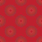 Sömlös cirkel Dots Red Background Abstract Pattern 1 Fotografering för Bildbyråer