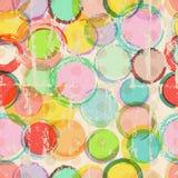 Sömlös cirkelbakgrund, vektor illustrationer