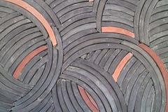 Sömlös cirkelbakgrund, tegelplattor för byggande garnering Arkivfoton