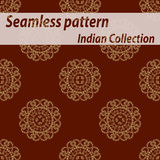 Sömlös dekorativ bakgrund, sömlös etnisk bakgrund bakgrund i etnisk stil, indisk prydnad, cirkulär Royaltyfria Foton