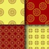 Sömlös dekorativ bakgrund, sömlös etnisk bakgrund bakgrund i etnisk stil, indisk prydnad, cirkulär vektor illustrationer