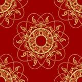 Sömlös dekorativ bakgrund, sömlös etnisk bakgrund bakgrund i etnisk stil, indisk prydnad, cirkulär Royaltyfri Foto