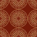 Sömlös dekorativ bakgrund, sömlös etnisk bakgrund bakgrund i etnisk stil, indisk prydnad, cirkulär Royaltyfri Bild