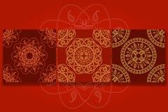 Sömlös dekorativ bakgrund, sömlös etnisk bakgrund bakgrund i etnisk stil, indisk prydnad, cirkulär royaltyfri illustrationer