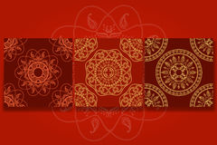Sömlös dekorativ bakgrund, sömlös etnisk bakgrund bakgrund i etnisk stil, indisk prydnad, cirkulär Arkivfoton