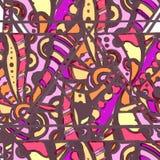 Sömlös dekorativ coctailmodell Royaltyfria Bilder