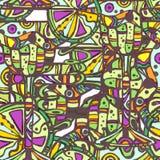 Sömlös dekorativ coctailmodell Arkivfoton