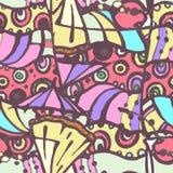 Sömlös dekorativ coctailmodell Royaltyfria Foton