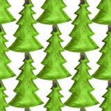 Sömlös dekorativ modell för vattenfärg Festlig design för trycket för jul och för nytt år, kort, affisch, textil, inpackningspapp royaltyfri illustrationer