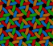 Sömlös dekorativ modell för vektor av kulör flätad samman fiber Royaltyfria Bilder