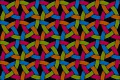 Sömlös dekorativ modell för vektor av kulör genomskuren fiber Arkivfoto