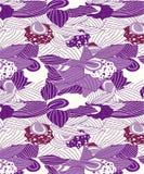 Sömlös design för abstrakta orkidér för moderna kläder stock illustrationer