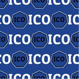 Sömlös design för ICO-begrepp Fotografering för Bildbyråer