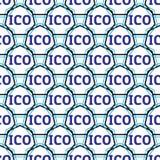 Sömlös design för ICO-begrepp Arkivbild