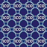 Sömlös design för ICO-begrepp Arkivbilder