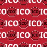 Sömlös design för ICO-begrepp Arkivfoton